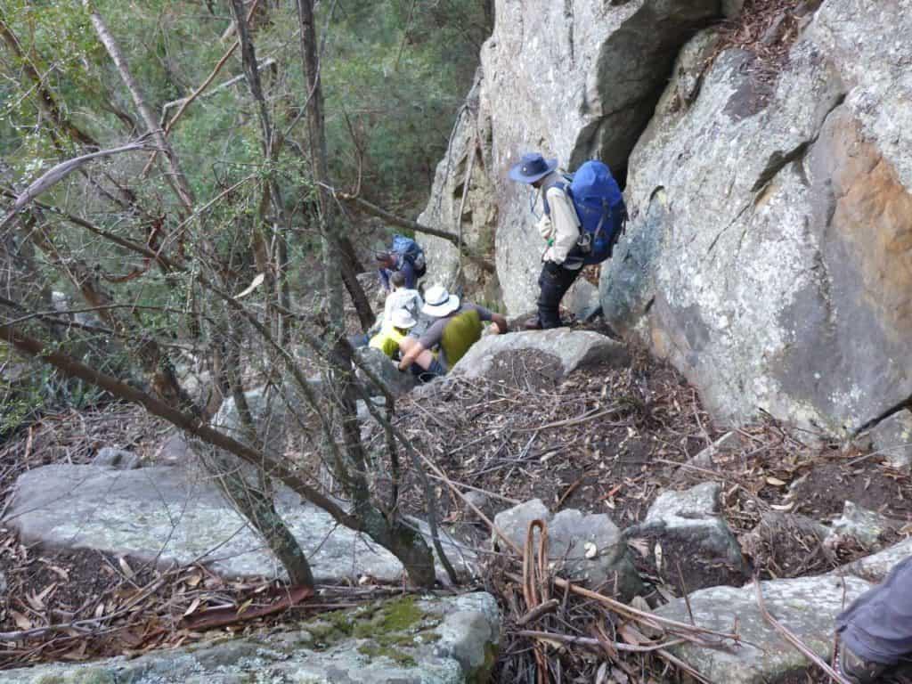 Descending through Howards Pass, Ettrema Gorge