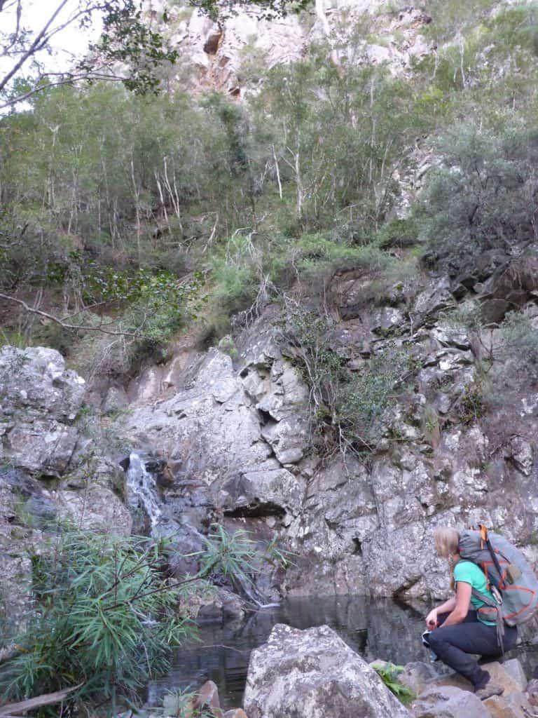 Small falls on side creek, Ettrema Gorge