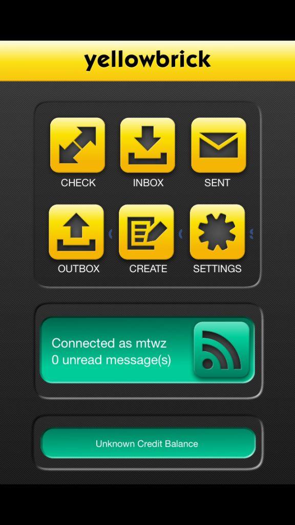 Yellowbrick Messenger App Homescreen