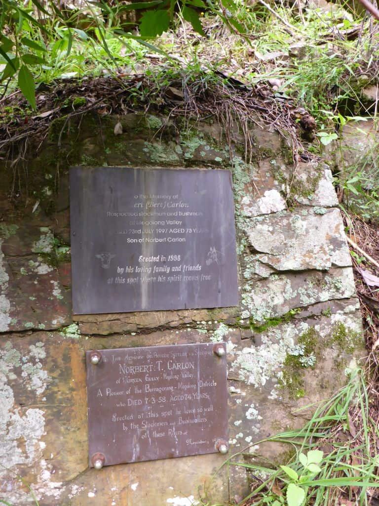 Carlon Family memorial plaques.