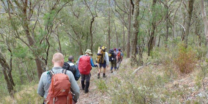 Group walk down Ironmonger